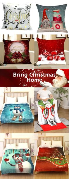 Free shipping over $45, up to 70% off, Rosegal Christmas home decoration, Christmas decorative pillows and Christmas Dog Printed Flannel Bed Blanket, Bring Christams home! | #roseagl #pillows #home… More Latest Bed, Best Duvet Covers, Pillow Covers, Paint Colors For Living Room, Christmas Tree Decorations, Winter Decorations, Christmas Dog, Interior Design Living Room, Christmas