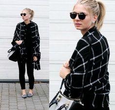 1PC 2015 195CM * 80CM New Lady Women Blanket black white Plaid Cozy Checked Tartan Scarf Wraps shawl