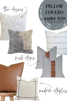 Best places to buy throw pillows {all under $20!} Decorative Pillow Covers, Throw Pillow Covers, Decorative Items, Throw Pillows, Pillow Covers Online, Traditional Pillows, How To Make Pillows, Breakfast Nook, Modern Boho