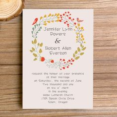 affordable bohemian floral elegant wedding invitations EWI300 |