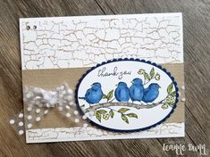 Free As A Bird Stampin' Up! Card created by Leanne Dunn of Pine Hollow Paper Design | Bird Ballad Suite