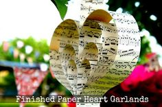 DIY Tutorial: Paper Heart Garlands