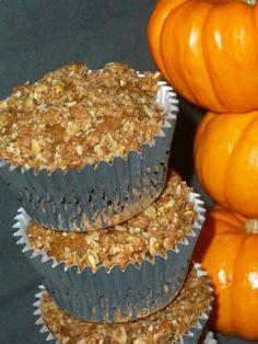 YummyAllergenFree: Pumpkin Muffins With Pumpkin Seed Streusel Topping