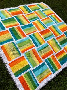 Love this (front) a little gray: First Finished Quilt!