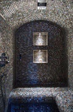 Tiled shower bath