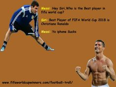Messi Troll with Ronaldo Meme Messi, Messi Funny, Football Troll, Football Soccer, Soccer Ball, World Cup 2018, Fifa World Cup, World Cup Winners, Best Player