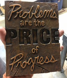 Problems Are The Price Of Progress, business quote, office wall decor Office Wall Decor, Office Walls, Greek Helmet, Buddha Wall Art, Buddha Face, Stone Crafts, Business Quotes, Hand Painted, Studio