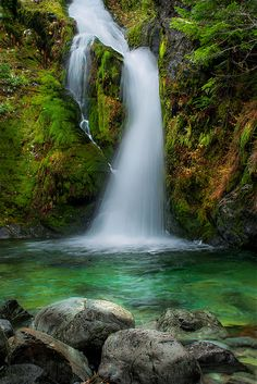 Sullivan Creek Falls, Oregon, USA.
