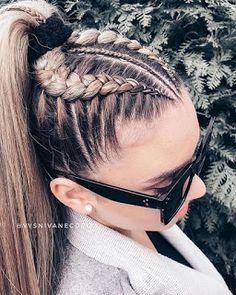 44 Ideas de Peinados Juveniles que te Encantarán By Diyanu hairmakeup 389068855309287777 Braids With Curls, Cool Braids, Braids For Long Hair, French Braid Hairstyles, Twist Hairstyles, Cute Hairstyles, Dance Hairstyles, Halloween Hairstyles, Long Hairstyles