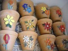 Resultado de imagem para vasos em mosaico
