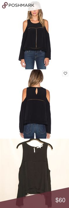 Loves + Friends Cloud Break Top by Revolve NWOT • Great condition • Cute black cold shoulder top • Perfect night out top • Sexy & classy • Size large. Lovers + Friends Tops Blouses