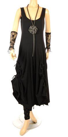 33d601f8841 Fantabulous Lagenlook Black Tie Dress
