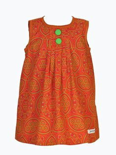 "Best 11 A ""natural"" JenniDezigns classic. This sleeveless A-line includes front pleats and buttons to off-set the radiant African colours and print. Back fastens with a loop and covered button. Arms and neck are bound in a contrasting print. Ankara Styles For Kids, African Dresses For Kids, African Print Dresses, Girls Dresses, African Attire, African Wear, African Fashion, Kids Fashion, Fashion Outfits"
