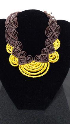 African  Collar made in México  Raquel Martinez Chavez