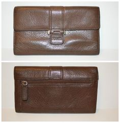 Fossil Wallet Full Size Brown Leather Very Good Condition No Wear | eBay