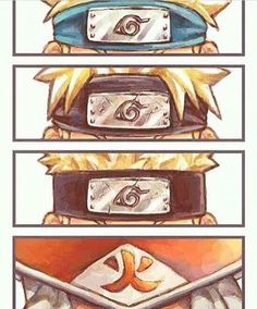 Naruto's head through the years