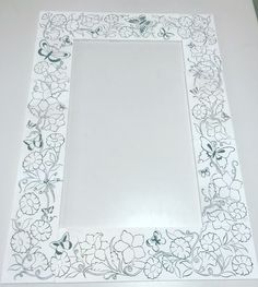 Glass Painting Designs, Paint Designs, Border Embroidery Designs, Embroidery Patterns, Tile Patterns, Pattern Art, Medieval Pattern, Fairy Coloring Pages, Stained Glass Crafts