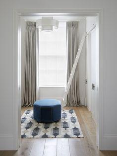 London Townhouse, Signature Style, Dressing Room, Curtains, Storage, Interiors, Design, Home Decor, Purse Storage
