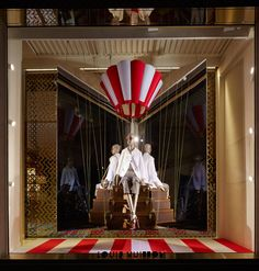 The new window displays at the Louis Vuitton New Bond Street Maison in London. Http://pop-solutions.tumblr.com