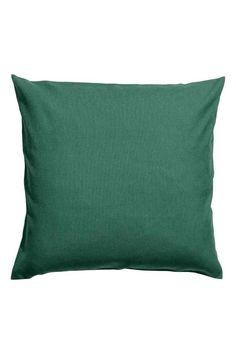 Płócienna poszewka na poduszkę - Ciemnozielony - HOME | H&M PL 1