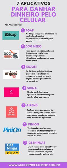 Renda extra: 7 aplicativos para ganhar dinheiro pelo celular Blog Planner, Study Tips, Marketing Digital, Money Tips, Blog Tips, Extra Money, Good To Know, Album, Work Hard
