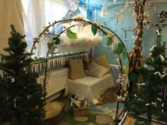 Narnia role play and reading corner year 1 classroom door, classroom themes, early years Year 1 Classroom, Classroom Decor Themes, Classroom Door, Classroom Ideas, Reading Corner Kids, Reading Areas, Role Play Areas, Reading Themes, Creative Curriculum