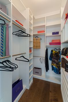 Opting for increased vertical storage space allows you to hang your clothes their full length, reducing unwanted folds and damage.  Learn more here: https://www.closetfactory.com/custom-closets/ Dressing Table Room, Tie Rack, Walk In Wardrobe, Walk In Closet, Custom Closets, Custom Cabinets, Master Closet, Closet Space, Vertical Storage