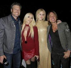 Sun 4-15-2018 Keith, Nicole, Blake Shelton & Gwen at ACM's in Las Vegas