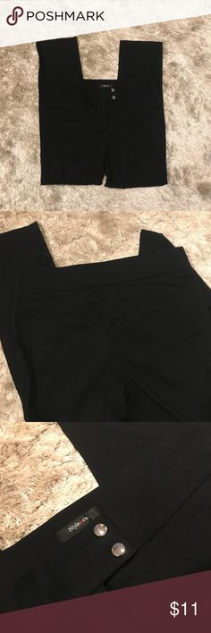 black pants black button up pants perfect for work Style & Co Pants Ankle & Cropped