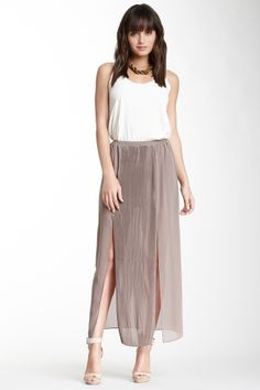 panel maxi skirt