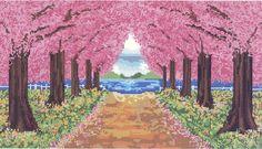 「桜並木 イラスト」の画像検索結果