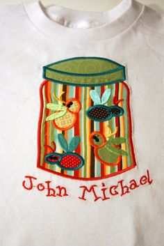 Bug Jar Custom Personalized Applique Boy by ThePersonalizedLife, $24.99