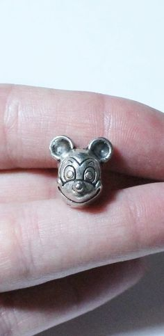 Sterling Silver 925 European Style Disney Mickey Mouse Charm or Pendant #Pendant