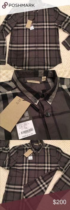 Black Burberry Button Down Shirt