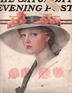 Saturday Evening Post Magazine 1915 Victorian by OldPaperAndPages, $10.50
