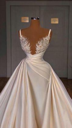 Fancy Wedding Dresses, Prom Girl Dresses, Glam Dresses, Bridal Dresses, Luxury Wedding Dress, Luxury Dress, Stunning Dresses, Elegant Dresses, Pretty Dresses