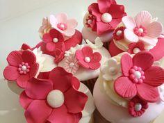 Some cupcake samples made for a bride