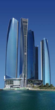 Etihad Towers in Abu Dhabi.