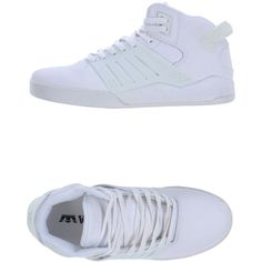 SUPRA High-tops (3030 RSD) ❤ liked on Polyvore featuring shoes, sneakers, white, zapatillas, supra shoes, white hi top sneakers, white sneakers, high top sneakers and supra footwear