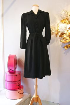 40s Coat // Vintage 1940s Crepe Coat with Cordé by xtabayvintage, $298.00