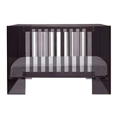 If a black crib seems like it'll be too heavy, then consider this Limited Edition Vetro Crib in Shadow from Nursery Works.