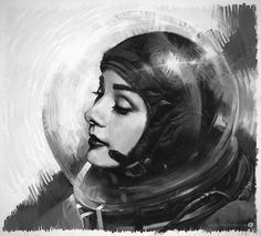 astro audrey by mike hill I love Audrey and I work in a space museum!   of course, I'm pinning this!
