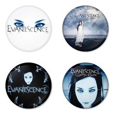 "EVANESCENCE 1.75"" Badges Pinbacks, Mirror, Magnet, Bottle Opener Keychain http://www.amazon.com/gp/product/B00CXVJ8YS"