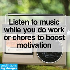 Music is one of the best tools we can use throughout our daily routine to keep ourselves motivated and focused. How often do you listen to music while working or doing chores? Not Enough Sleep, Tiny Steps, Motivational Images, Business Coaching, Cognitive Behavioral Therapy, Personal Goals, Healthier You, Medical Advice, Emotional Intelligence