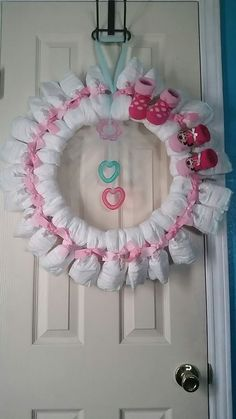 How To Make A Diaper Wreath With Instructions : 30 Ways . 20 DIY Baby Shower Ideas Tutorials For Boys. How To Make A Diaper Wreath With Instructions : 30 Ways . Baby Shower Crafts, Girl Baby Shower Decorations, Baby Shower Fall, Baby Boy Shower, Baby Shower Bouquet, Baby Shower Favors, Baby Shower Parties, Shower Gifts, Baby Shower Baskets