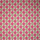 Stoff mit Blumen-Muster aus 100 % Baumwolle, 150 cm breit, 50 cm lang, Blumen: 3 x 1,5 cm, zertifiziert nach Öko-Tex Standard 100