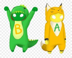 Gang Beasts, Video Game Characters, Fictional Characters, Game Design, Deadpool, Pikachu, Dinosaur Stuffed Animal, Character Design, Xbox Cake