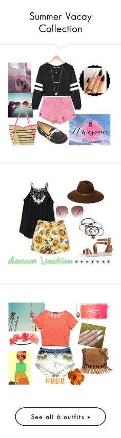 """Summer Vacay Collection"" by kmjfashion14 ❤ liked on Polyvore featuring Forever Collectibles, Charlotte Russe, Aéropostale, Forever 21, Brush Strokes, Disney, Eastland, Sun Bum, Jane Norman and Topshop"
