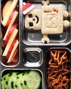 12 Super-Cool Kids' Bento-Box Lunches You Can Actually Make | Martha Stewart Cupcake Picks, Bento Box Lunch, Box Lunches, Lunch Boxes, School Lunches, Healthy Kids, Kid Friendly Meals, Cute Food, Santa Hat