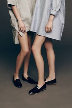 shirtdresses & glossy loafers #style #fashion
